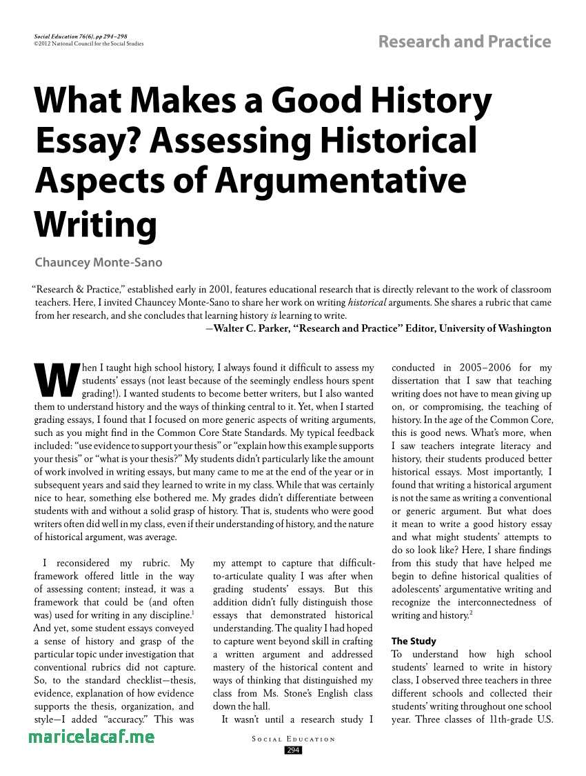 021 Research Paper Essay Maker Pdf What Makes Good History Assessing Historical Aspects Best Of Rubric For Social Studies Topics20 Topics In The Outstanding Philippines Full