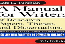 021 Research Paper Manual For Writers Of Papers Theses And Dissertations X1080 Sensational A Ed. 8 8th Edition Ninth Pdf