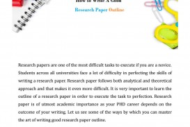 021 Research Paper Page 1 How Write Outstanding Outline To An For A Mla Ppt College 320