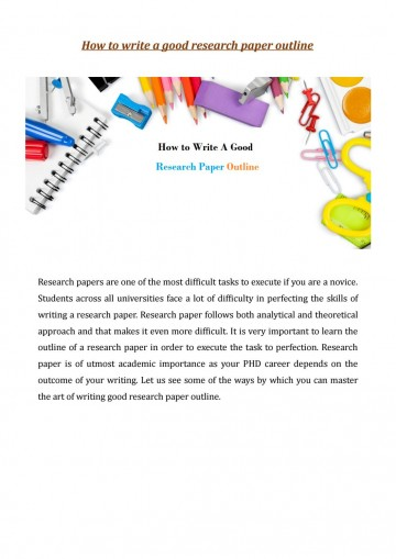021 Research Paper Page 1 How Write Outstanding Outline To An For A Mla Ppt College 360