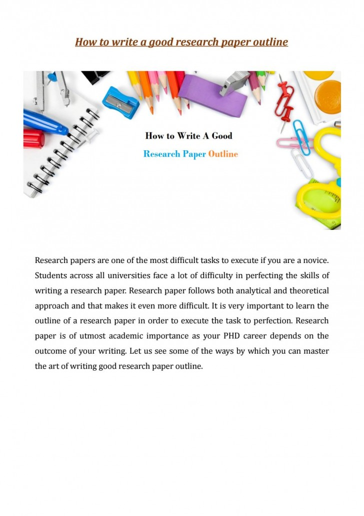 021 Research Paper Page 1 How Write Outstanding Outline To An For A Mla Ppt College 728