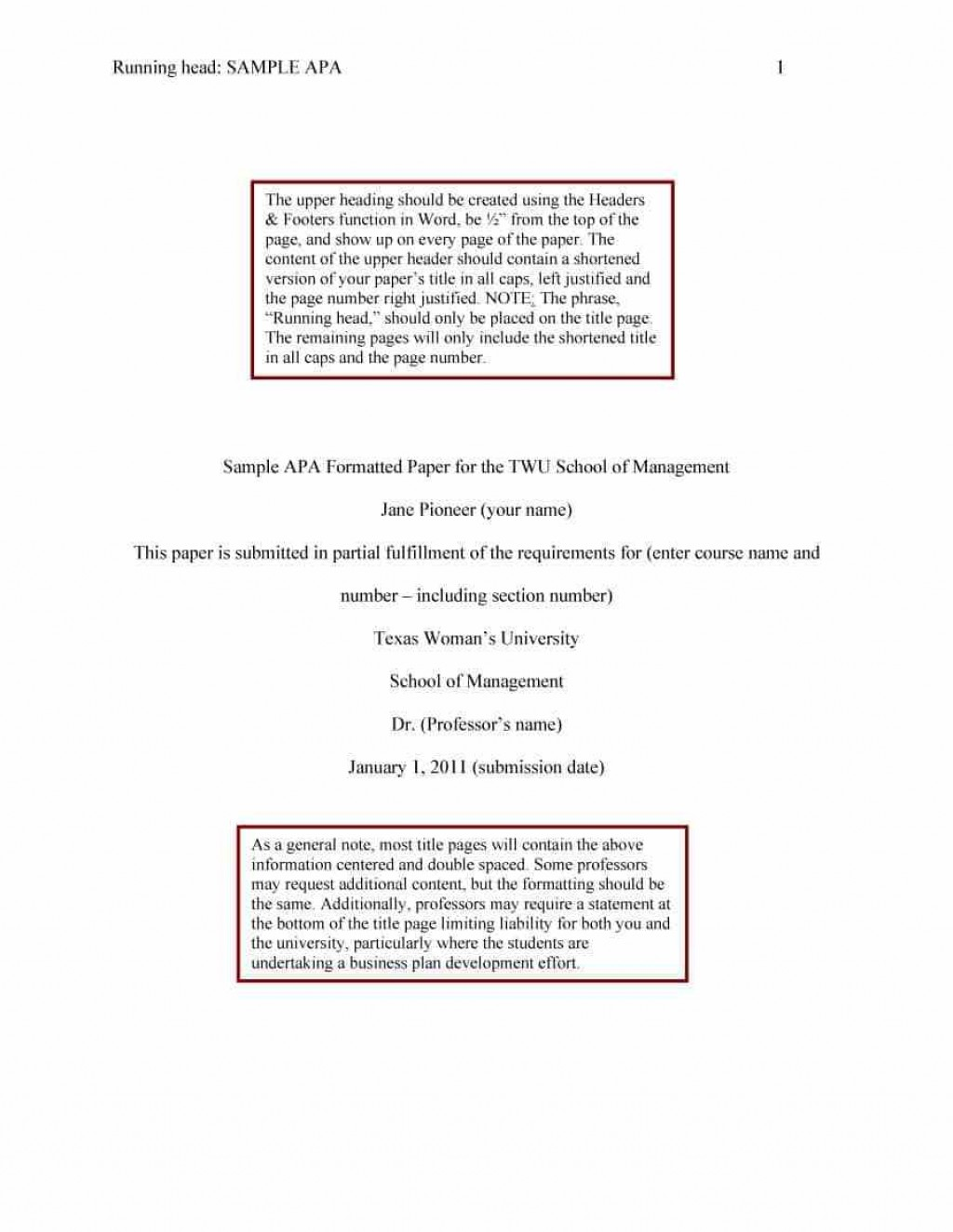 021 Research Paper Sample Apa Format Template Wonderful Free Psychology Large