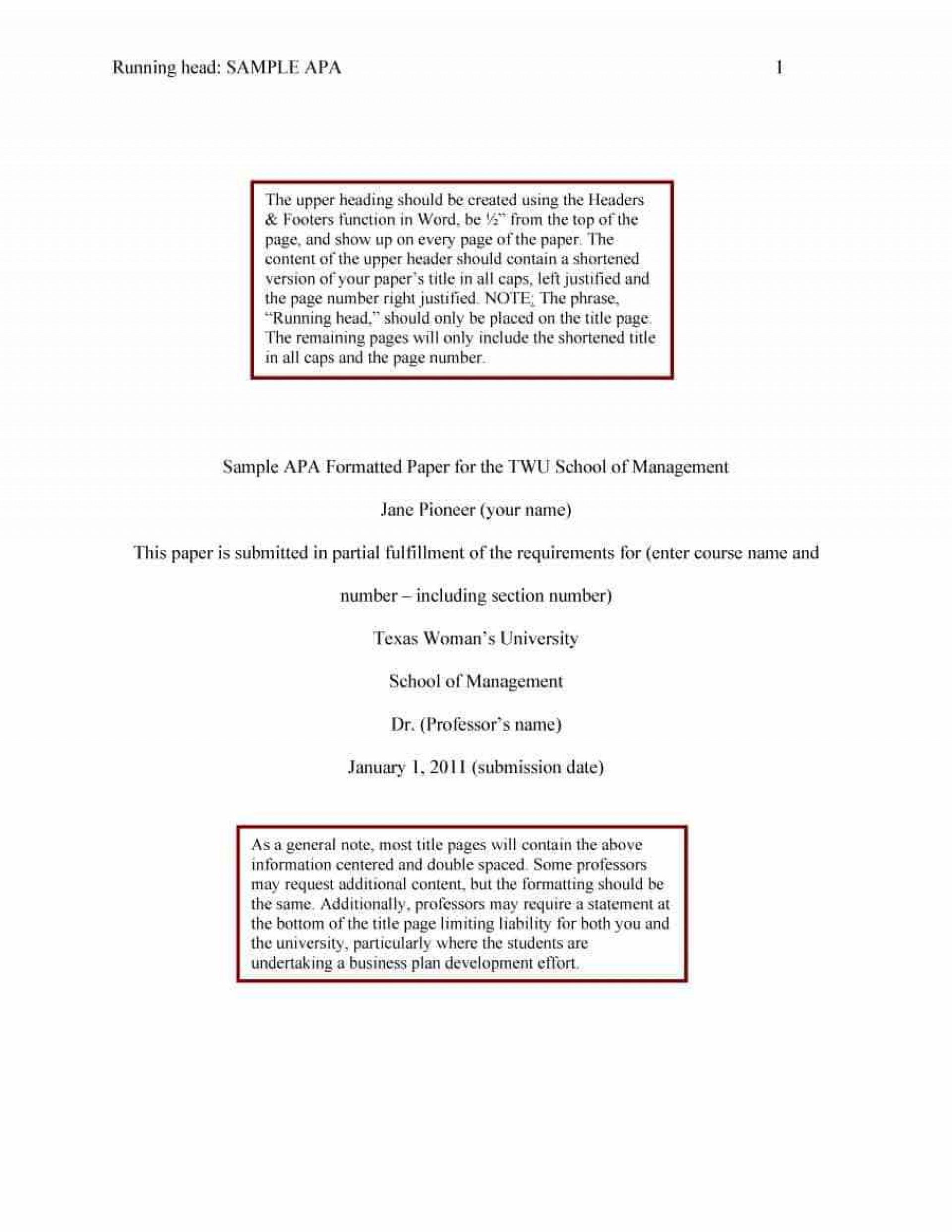 021 Research Paper Sample Apa Format Template Wonderful Free Psychology 1920