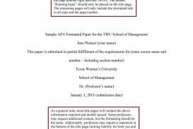 021 Research Paper Sample Apa Format Template Wonderful Free Psychology