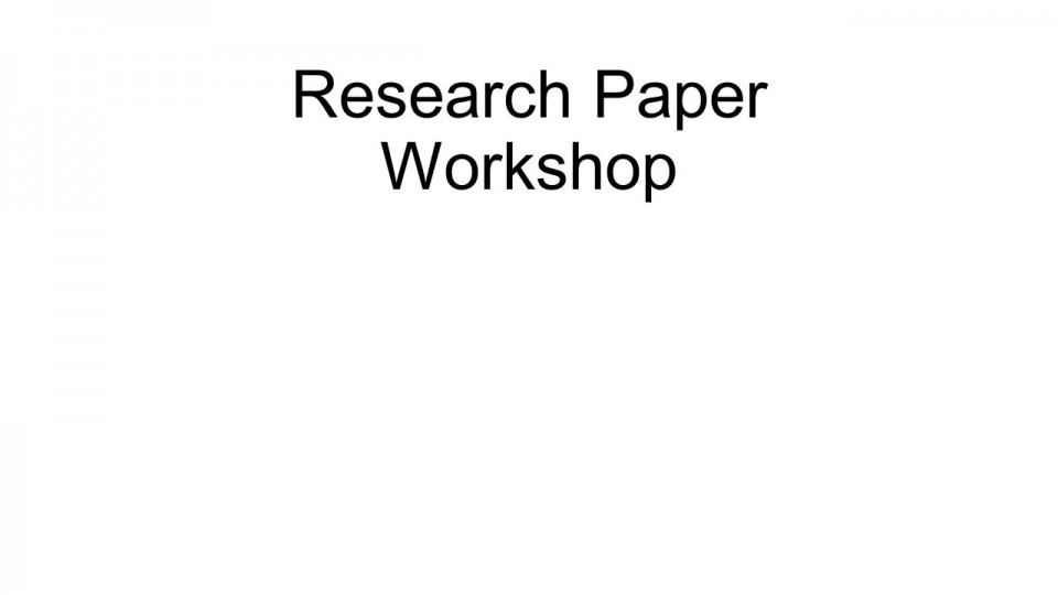 021 Research Paper Topics On Papers Slide 1 Unusual For Related To Education In World History Good 960