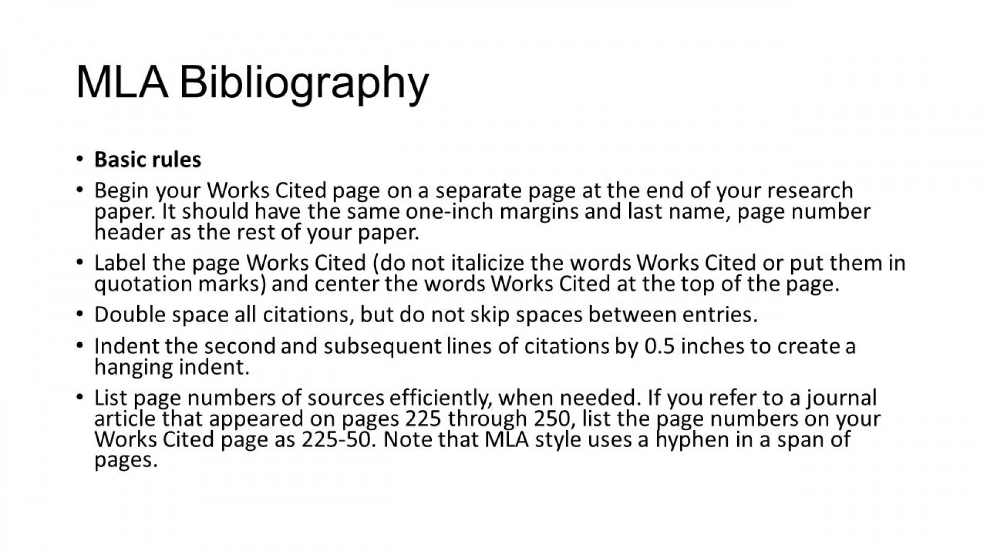 021 Slide 5 Research Paper Bibliography Page Imposing For How To Make A Works Cited Example Citation 1920