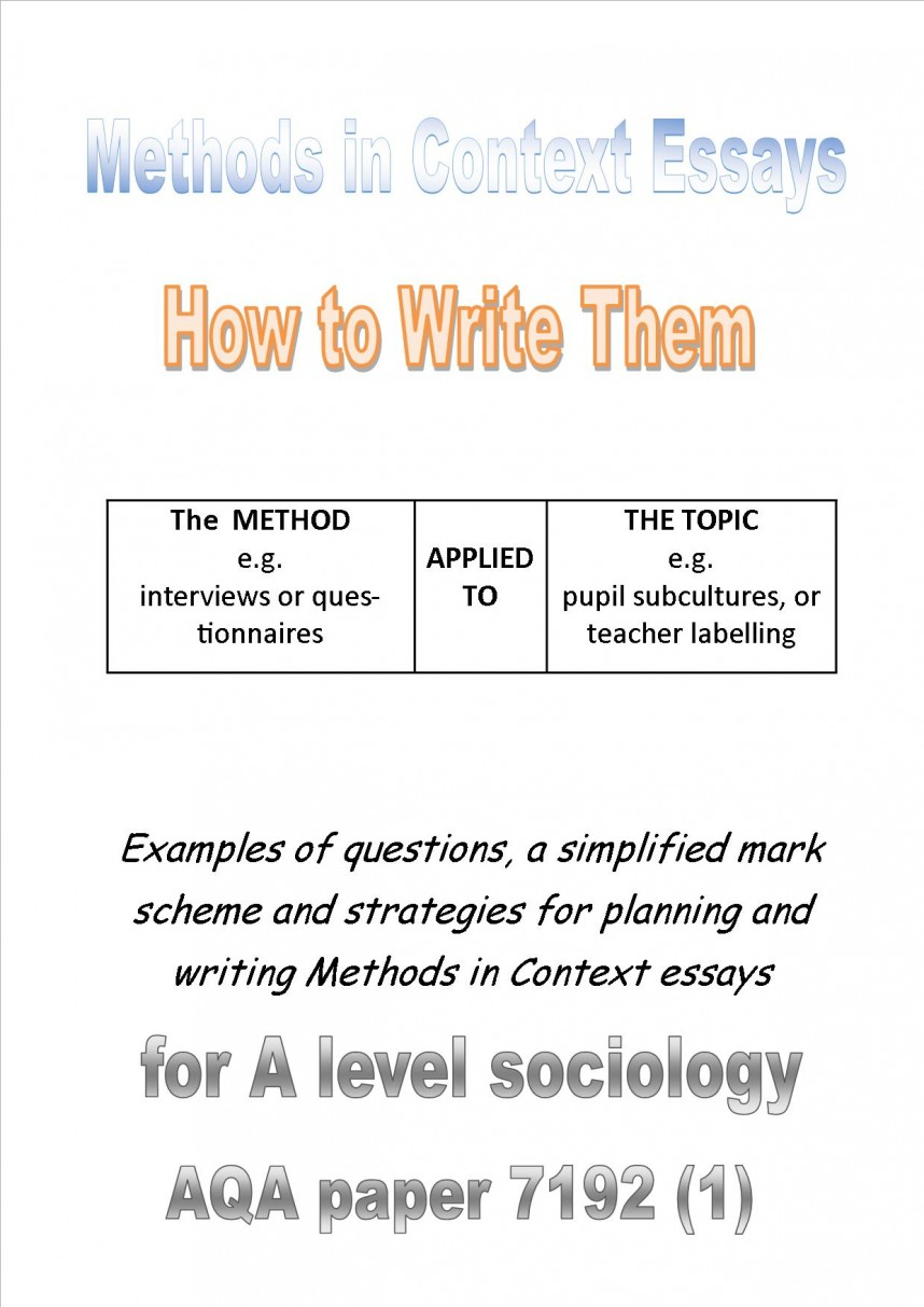 022 Aqa Sociology Research Methods Pasts In Context Cover Fantastic Past Papers Questions Gcse