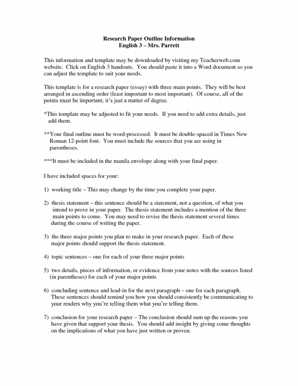 022 Career Research Paper 77997 Rare Outline Sample Example Large