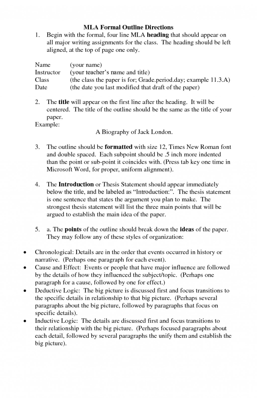 022 College Research Paper Outline Mla Rare Large