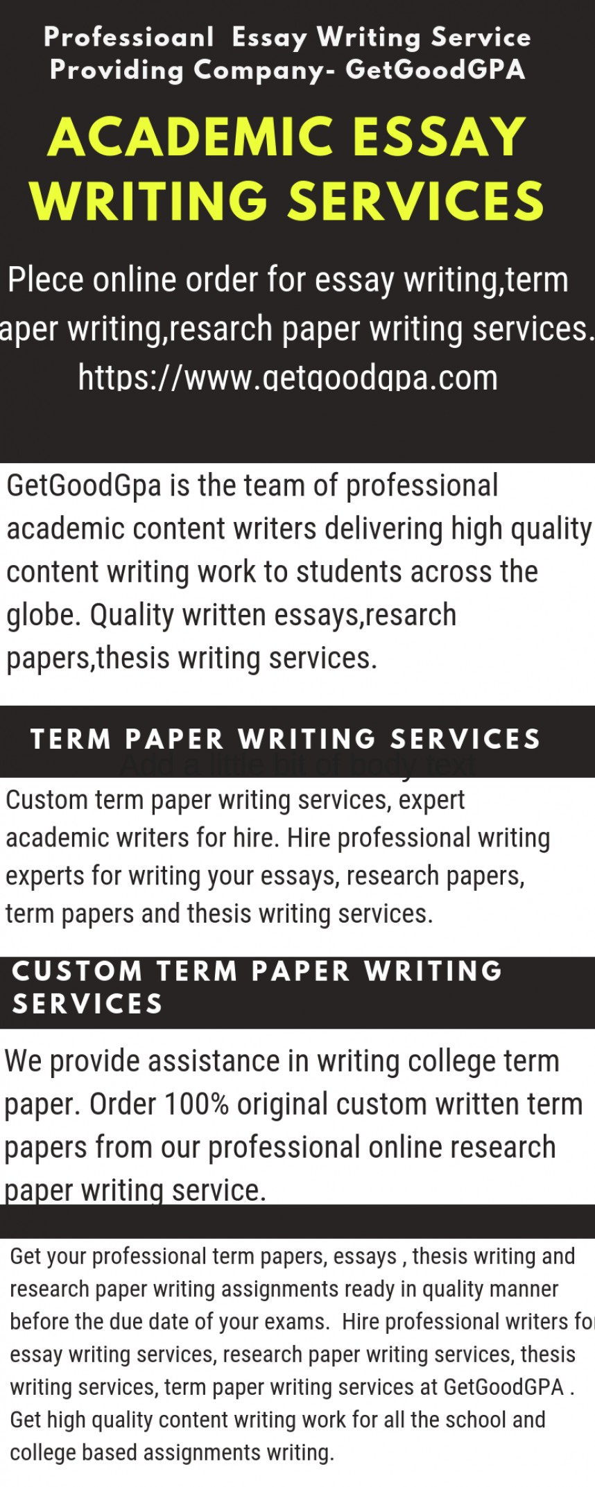 022 Custom Terms Research Awesome Term Papers