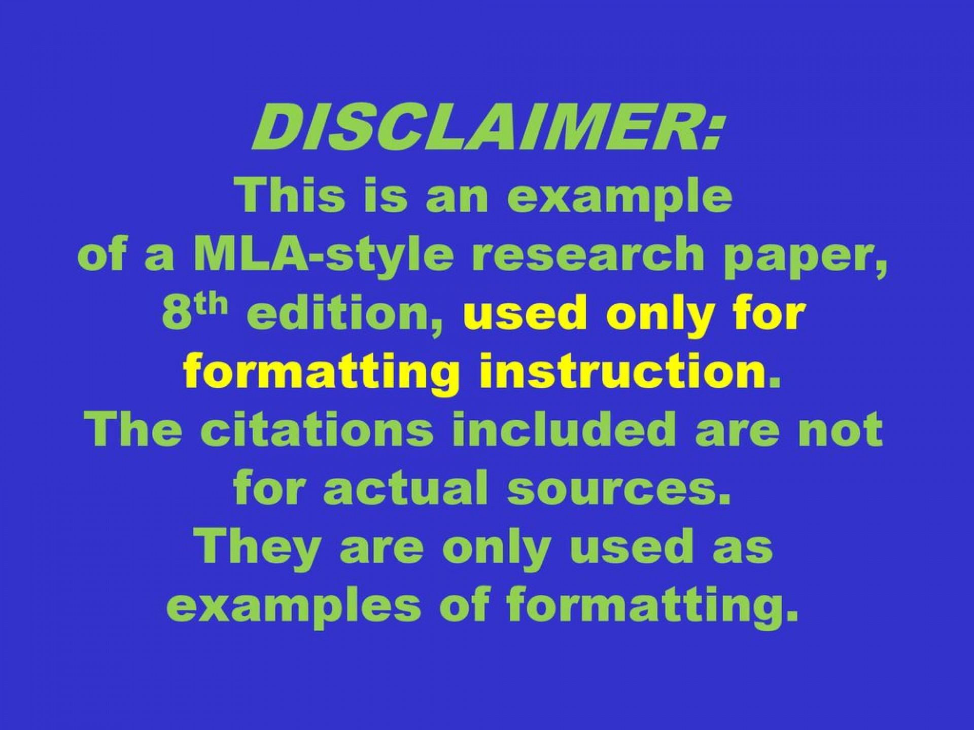 022 Disclaimer3athisisanexampleofamla Styleresearchpaper2c8thedition2cusedonlyforformattinginstruction Research Paper Mla Formatting Wondrous Instructions 1920