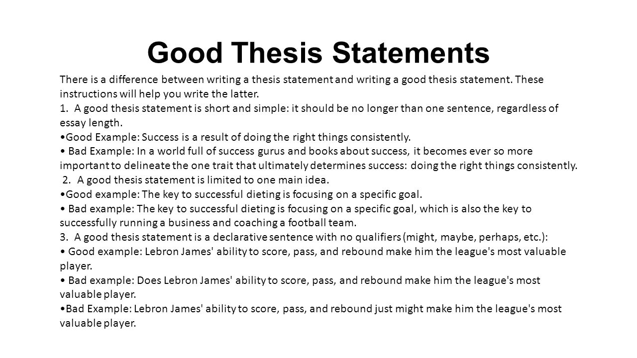 how to write a killer thesis statement powerpoint
