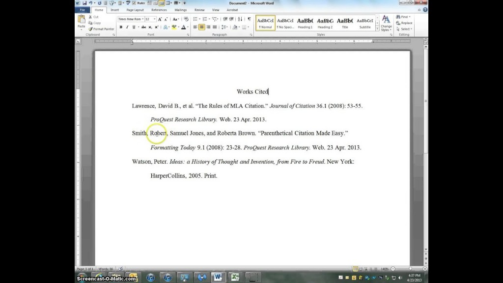 022 Maxresdefault Citations In Research Paper Awesome A Mla Cite Style How To References Citing Website Format Large