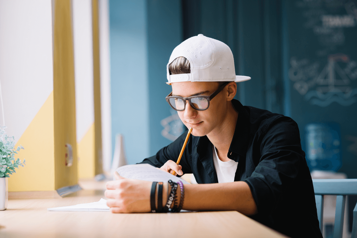 022 Pensive Student Working On Homework Conclusion Help Research Amazing Paper Full