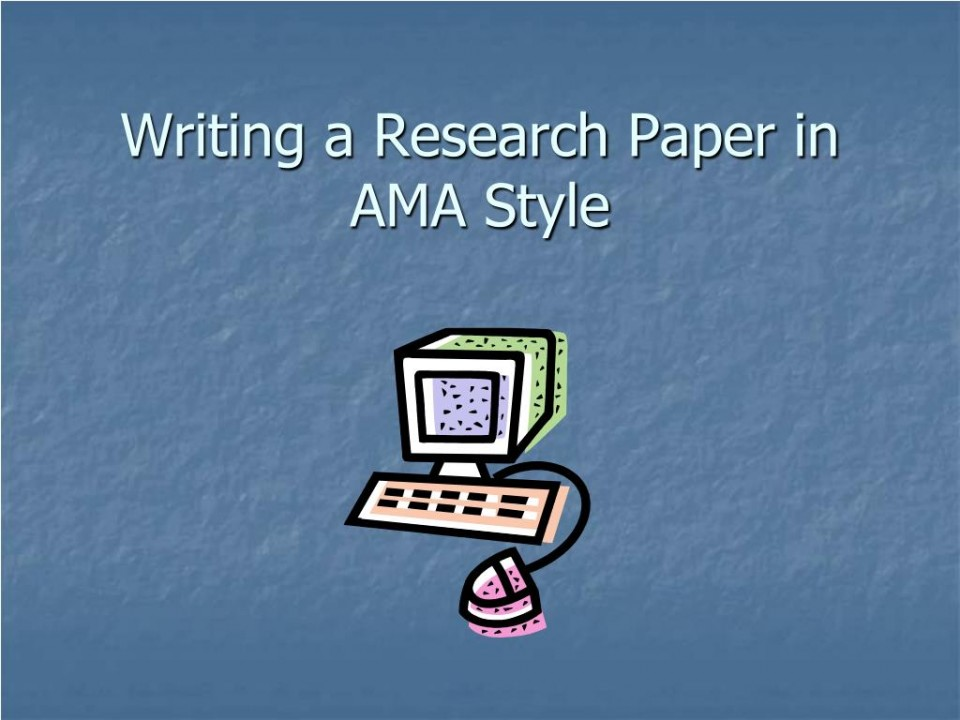 022 Powerpoint Presentation Format For Research Paper Writing In Ama Style Unique Sample Ppt 960