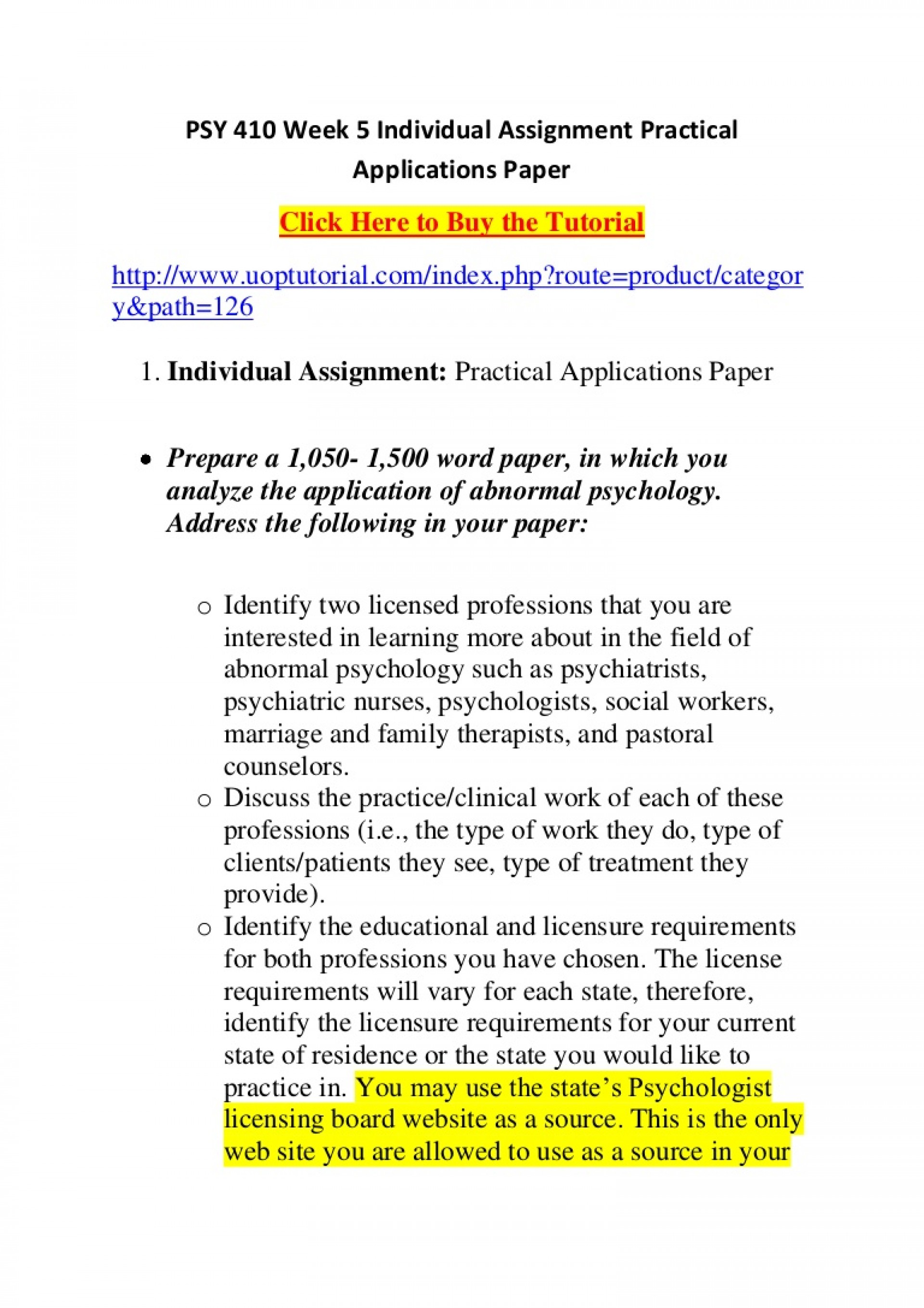 022 Research Paper Abnormal Psychology Topics For Psy410week5individualassignmentpracticalapplicationspaper Phpapp02 Thumbnail Unique 1920