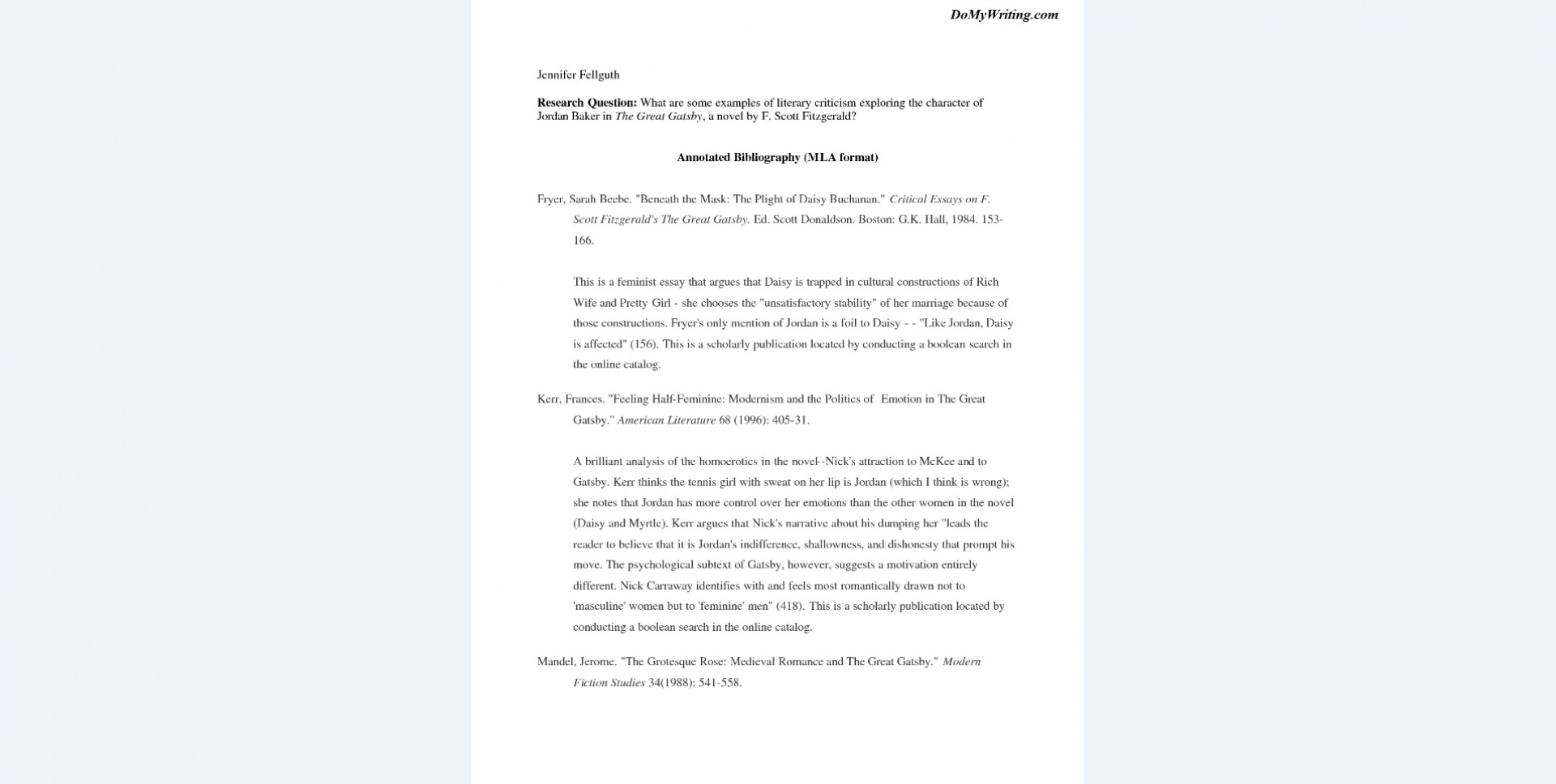 022 Research Paper Bibliography Sample Annotated Example Dreaded Format For Citing A 1920