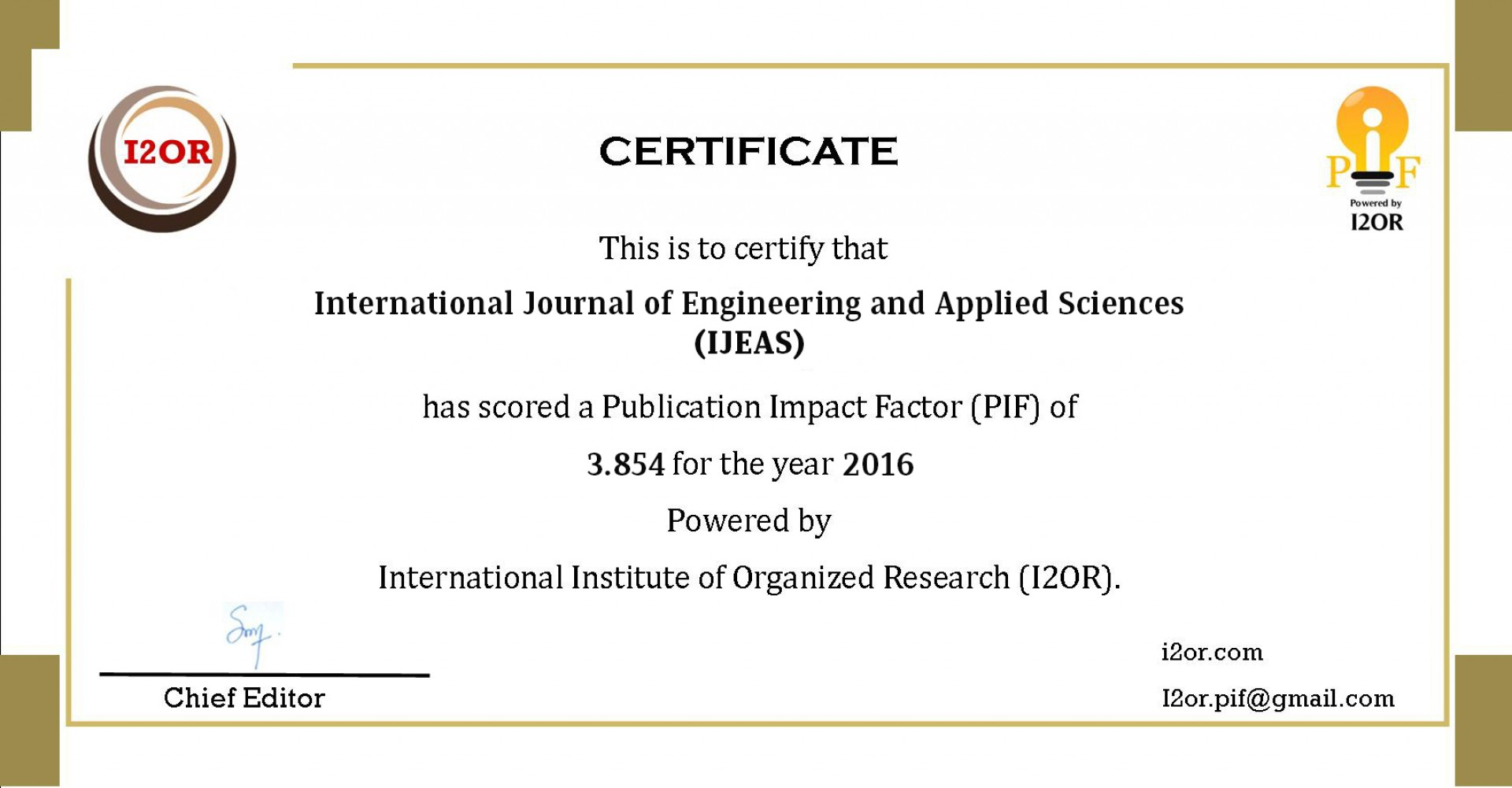 022 Research Paper Ijeas20pif Best Journals To Publish Stunning Papers In Computer Science List Of 1920