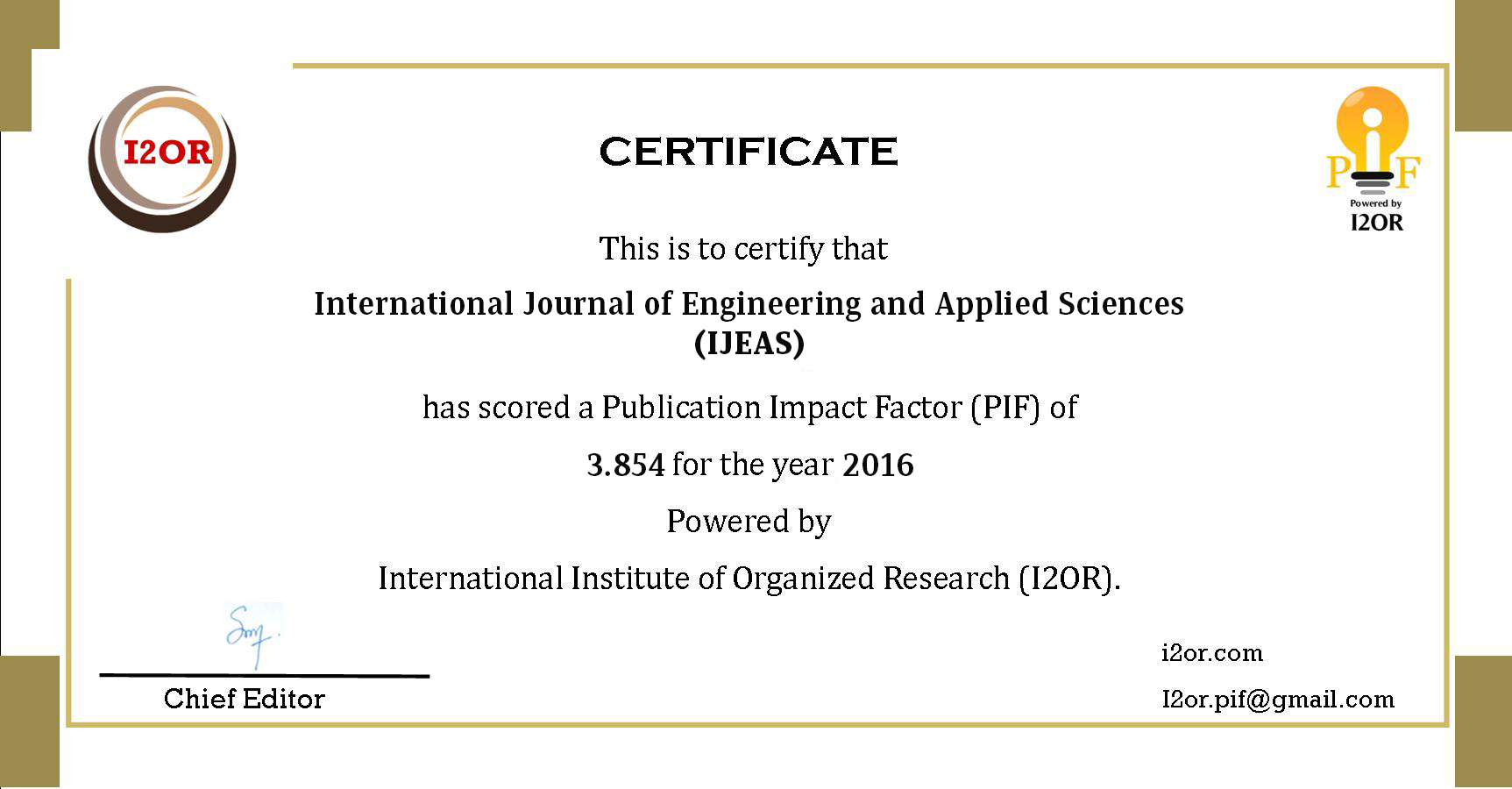 022 Research Paper Ijeas20pif Best Journals To Publish Stunning Papers In Computer Science List Of Full