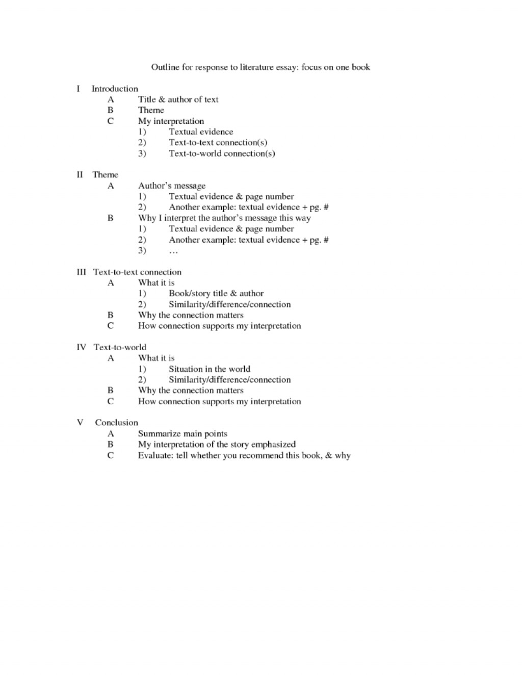 022 Research Paper Literature Outline 309475resize8002c1035 Example Of An For Striking A Literary Large