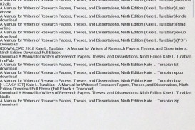 022 Research Paper Manual For Writers Of Papers Theses And Dissertations Magnificent A 8th Ed Pdf