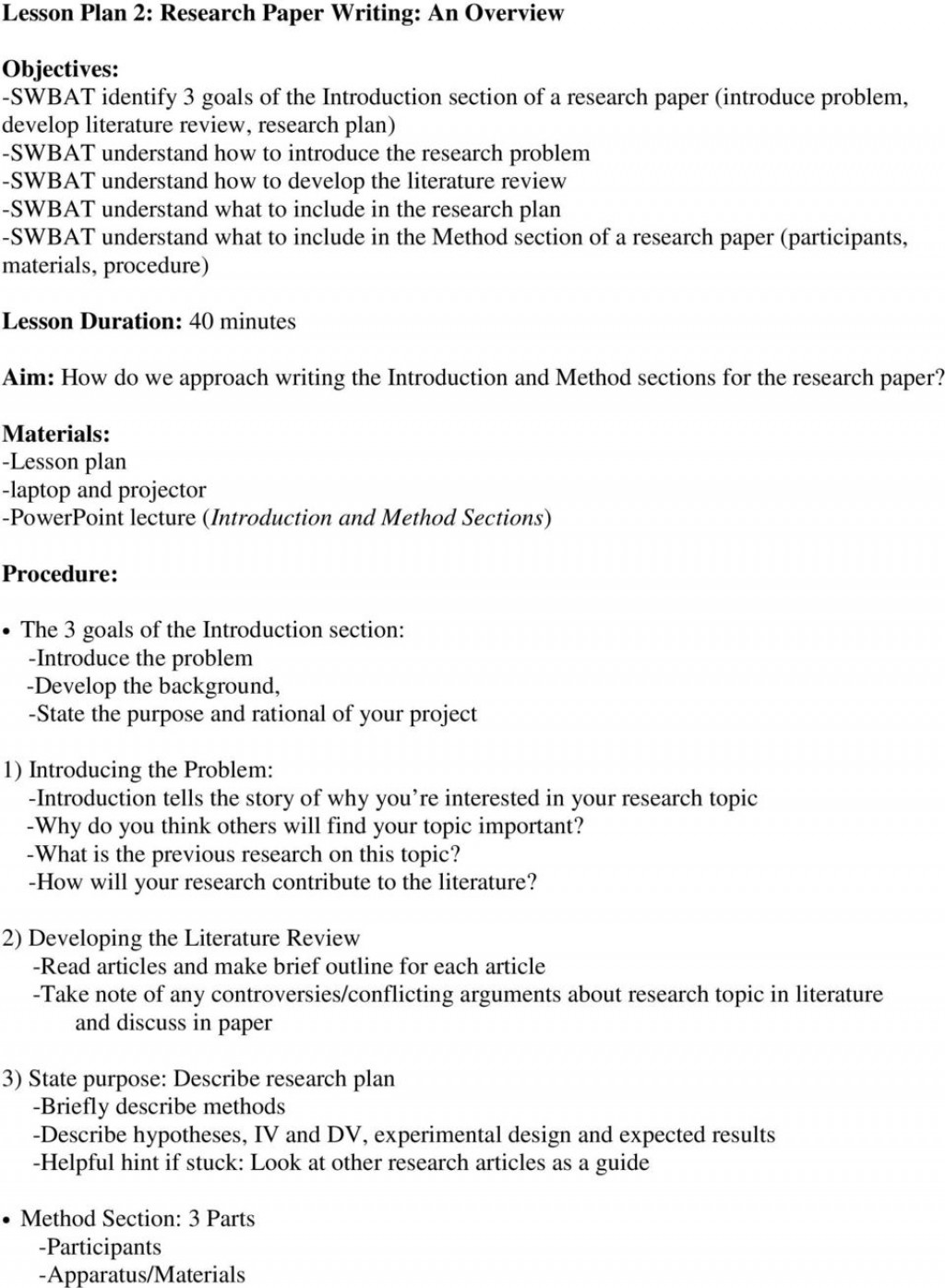 022 Research Paper Methods Section In Page 16 Sensational A Results Of Scientific Apa Example Pdf Large
