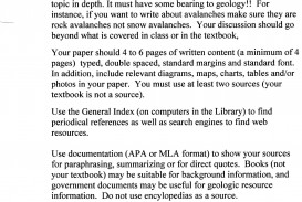 022 Short Geology Research Paper Throughout Introduction Paragraph Example Rare Mla