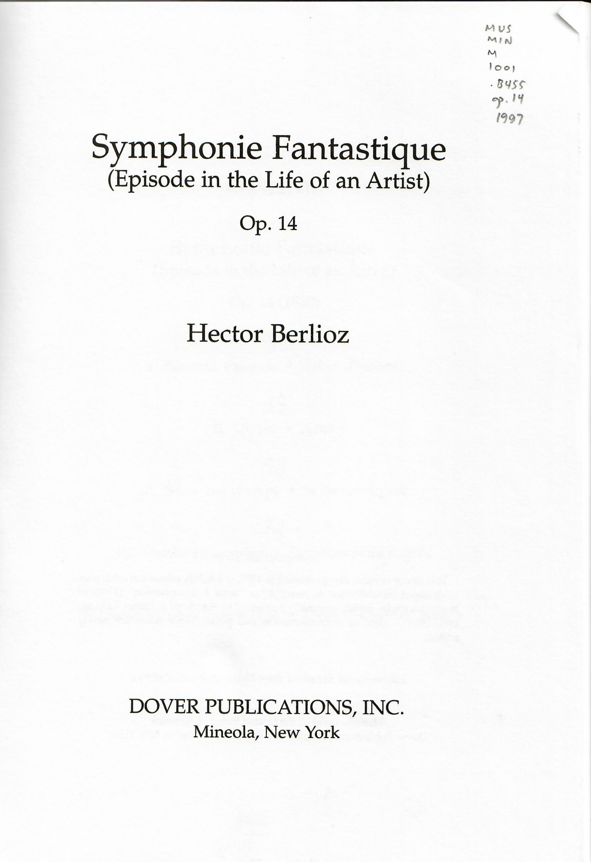 022 Symphonie Fantastique Cover Page Research Paper Staggering Citing Apa Citation Generator Online Citations 1920