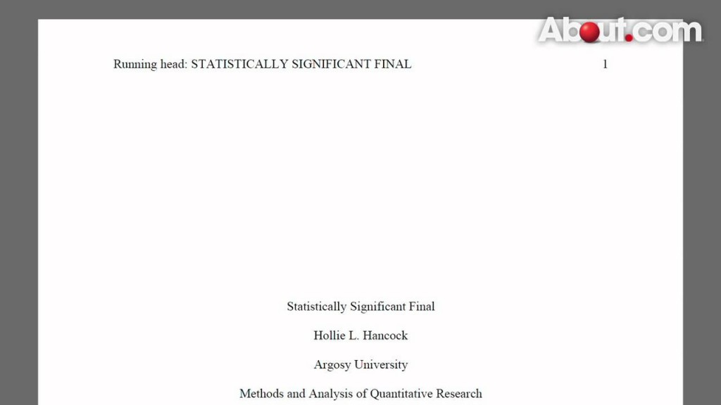 023 Apa Style Research Paper Example Title Page 82515 Stunning 2013 Large