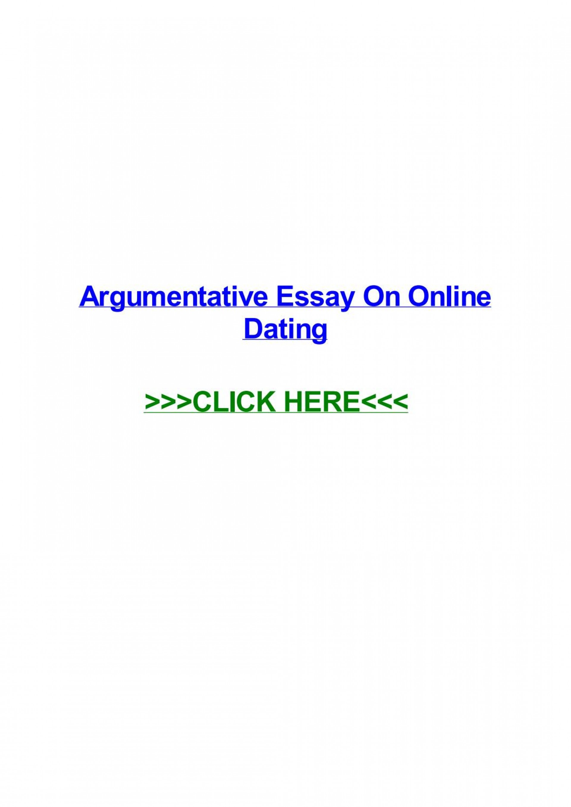 023 Argumentative Research Paper On Online Dating Page 1 Impressive Essay 1920