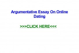 023 Argumentative Research Paper On Online Dating Page 1 Impressive Essay