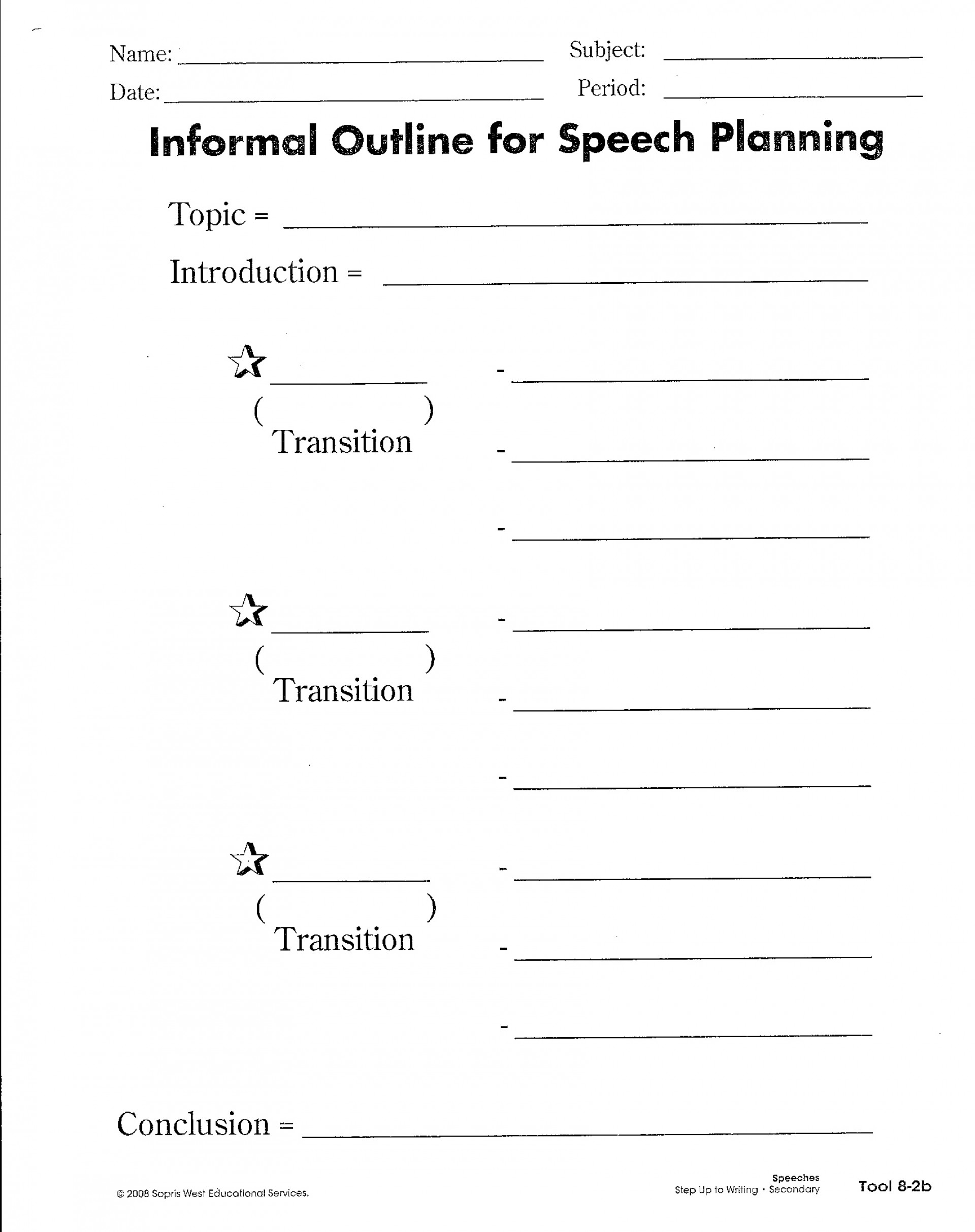 023 Basic Research Paper Outline Suw Planning Your Speech With An Informal Imposing Simple Easy 1920