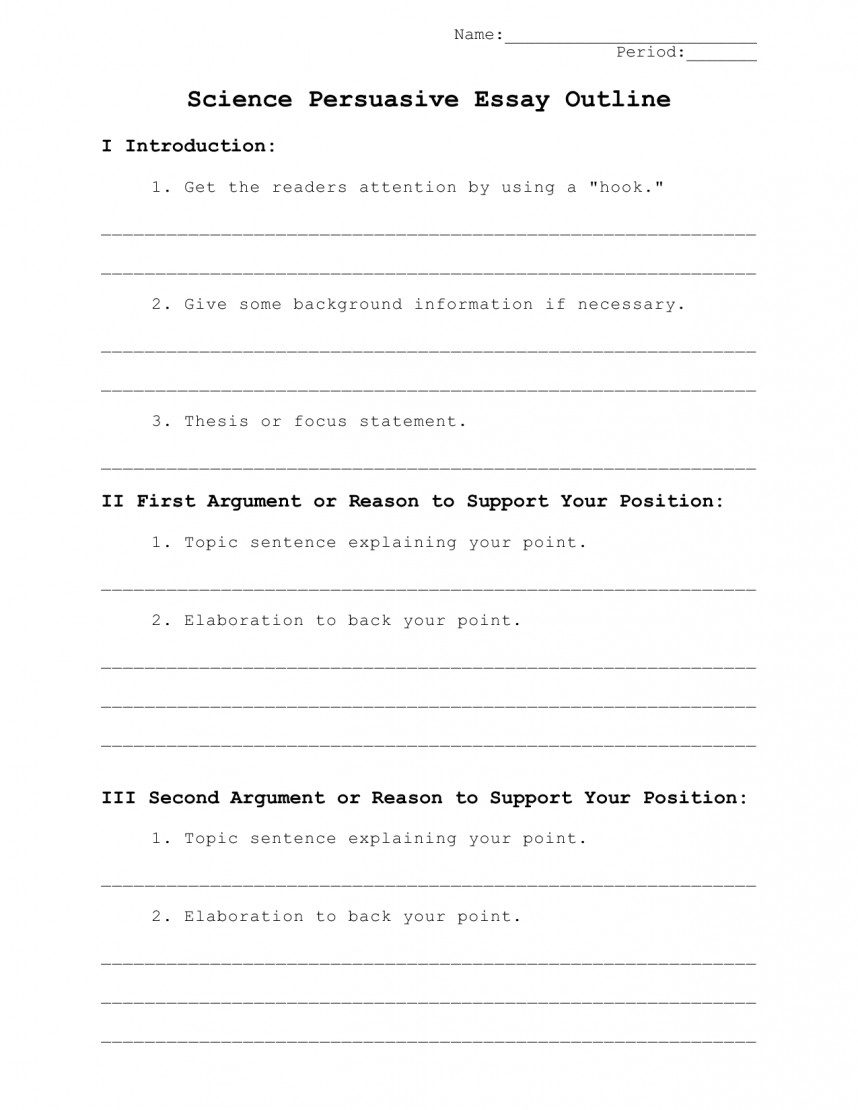 023 Best Photos Of High School Research Paper Outline Template Format Persuasive Essay L Topics Unusual Middle For Science Writing Prompts Schoolers Students