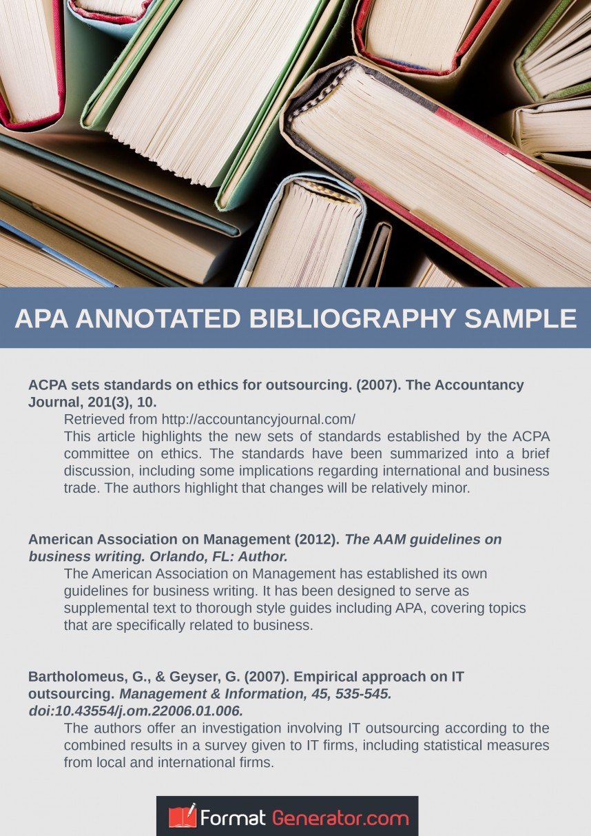 023 Free Online Research Paper Generator Apa Annotated Bibliography Outstanding Outline 868
