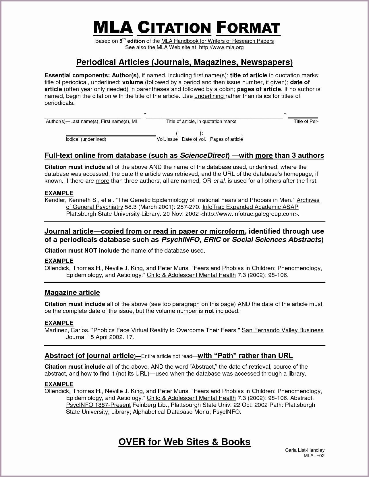 023 How To Cite Source In Research Paper Mla Format Best Of Unbelievable A Full