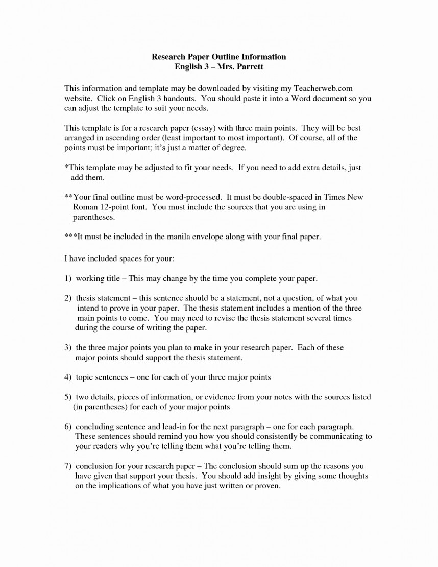023 How To Make An Outline For Research Paper Mla Format Awesome Example Essay Sample Papers Striking A Using Style