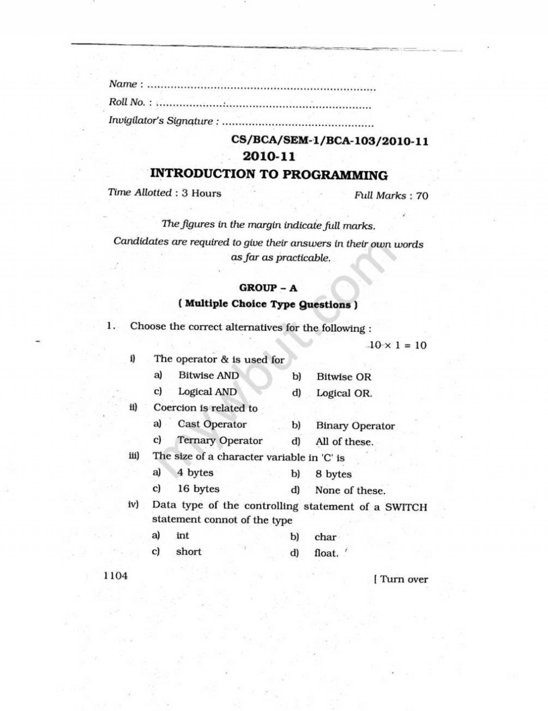 023 How To Write Scientific Research Paper Pdf Wbutst Sem Introduction Programming Previous Year S Question Papers Sensational And Publish A Computer Science 1920