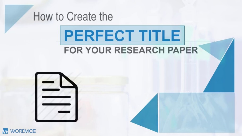 023 Maxresdefault How To Make Research Paper Formidable A Interesting Writing Fun Catchy Title For Large