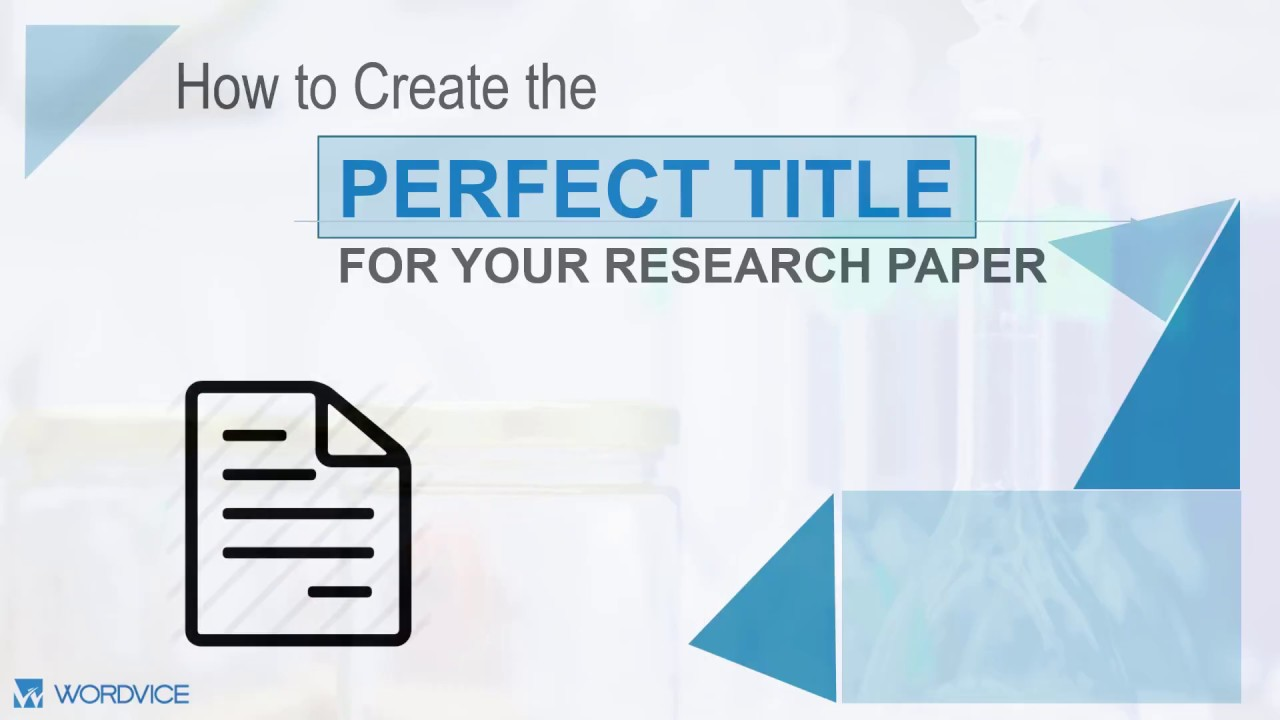 023 Maxresdefault How To Make Research Paper Formidable A Interesting Writing Fun Catchy Title For Full