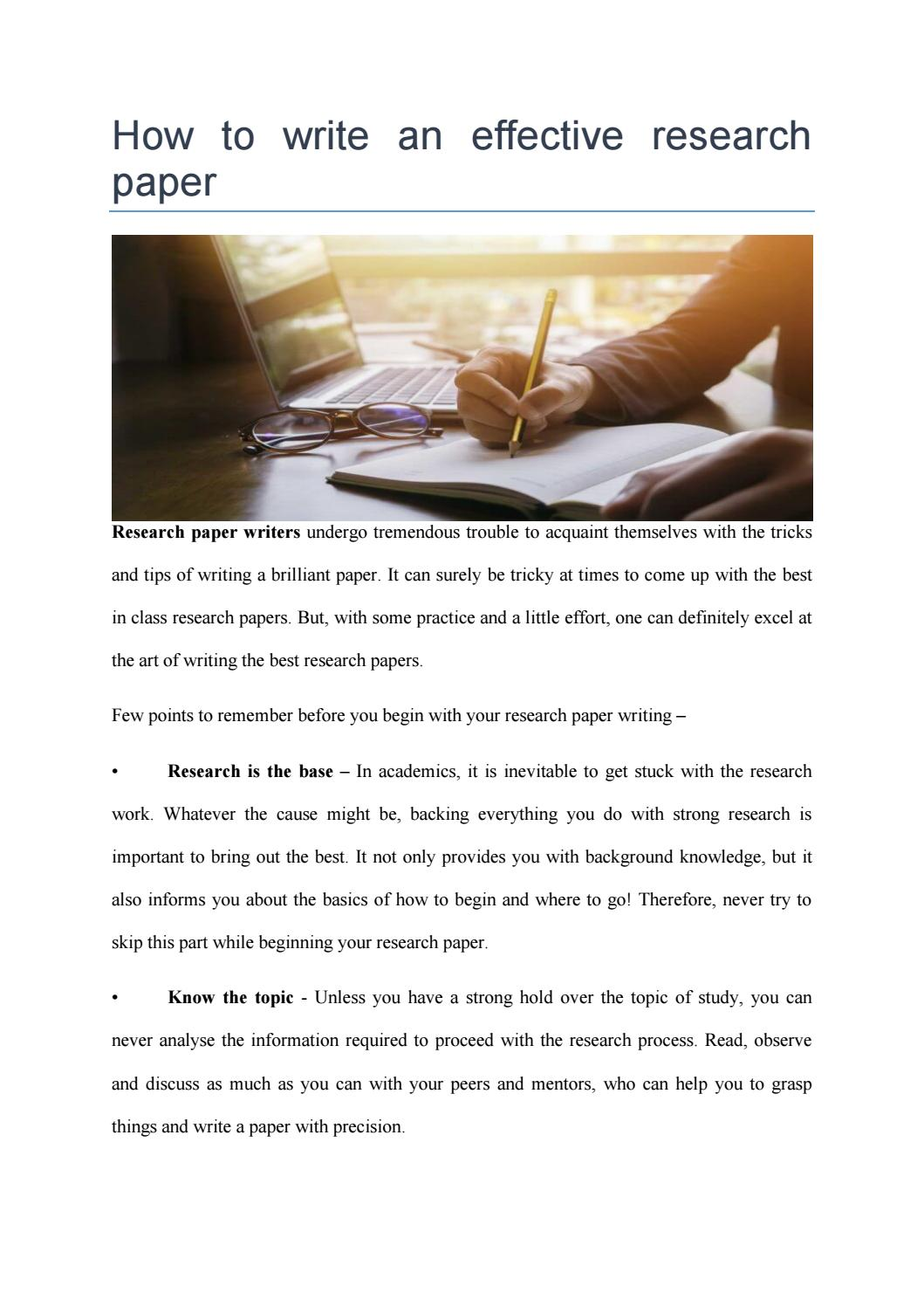 023 Page 1 Research Paper Tips For Wondrous Papers Good Effective Writing Full