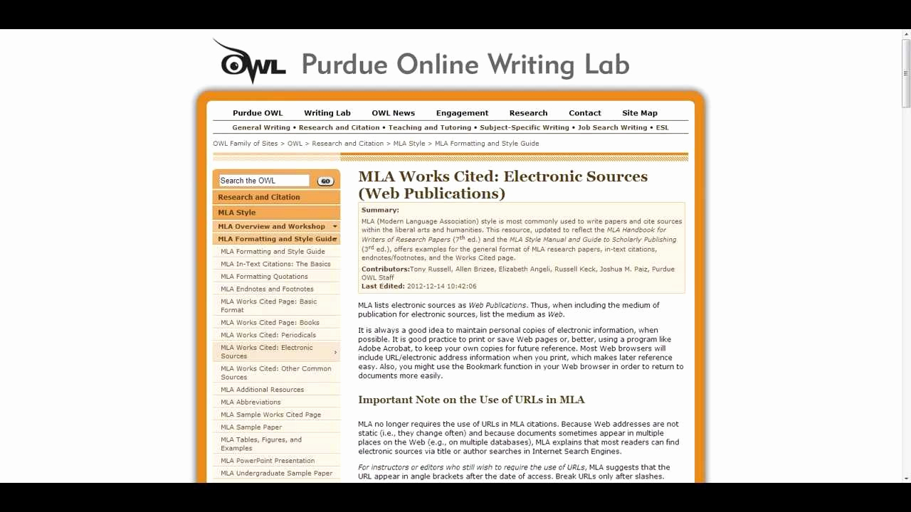 023 Purdue Owl Apa Website Citation No Author Resume Style
