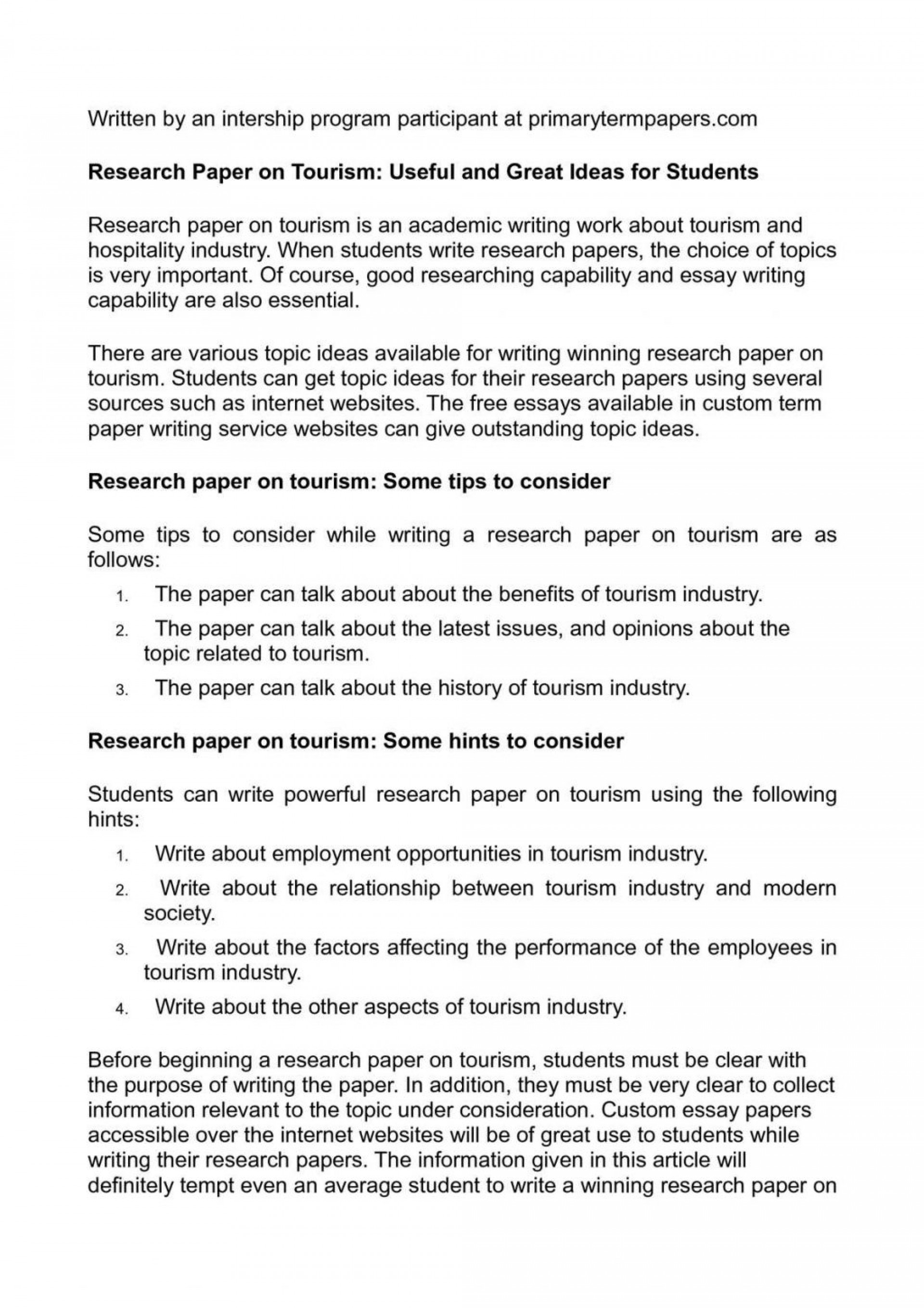 023 Research Paper 20calama20c220a9o On Tourism Useful And Great Ideas For Students Topics To Write About20 1024x1449 Sensational Health Related Public 1920