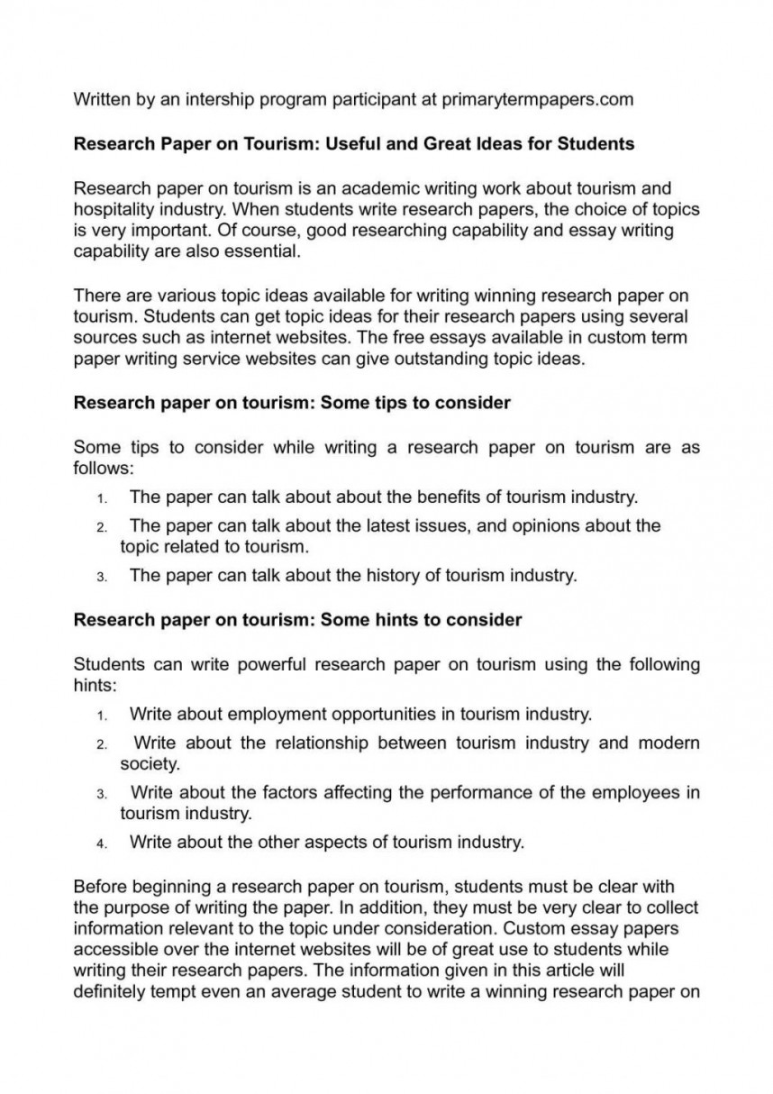 023 Research Paper 20calama20c220a9o On Tourism Useful And Great Ideas For Students Topics To Write About20 1024x1449 Sensational Health Law College