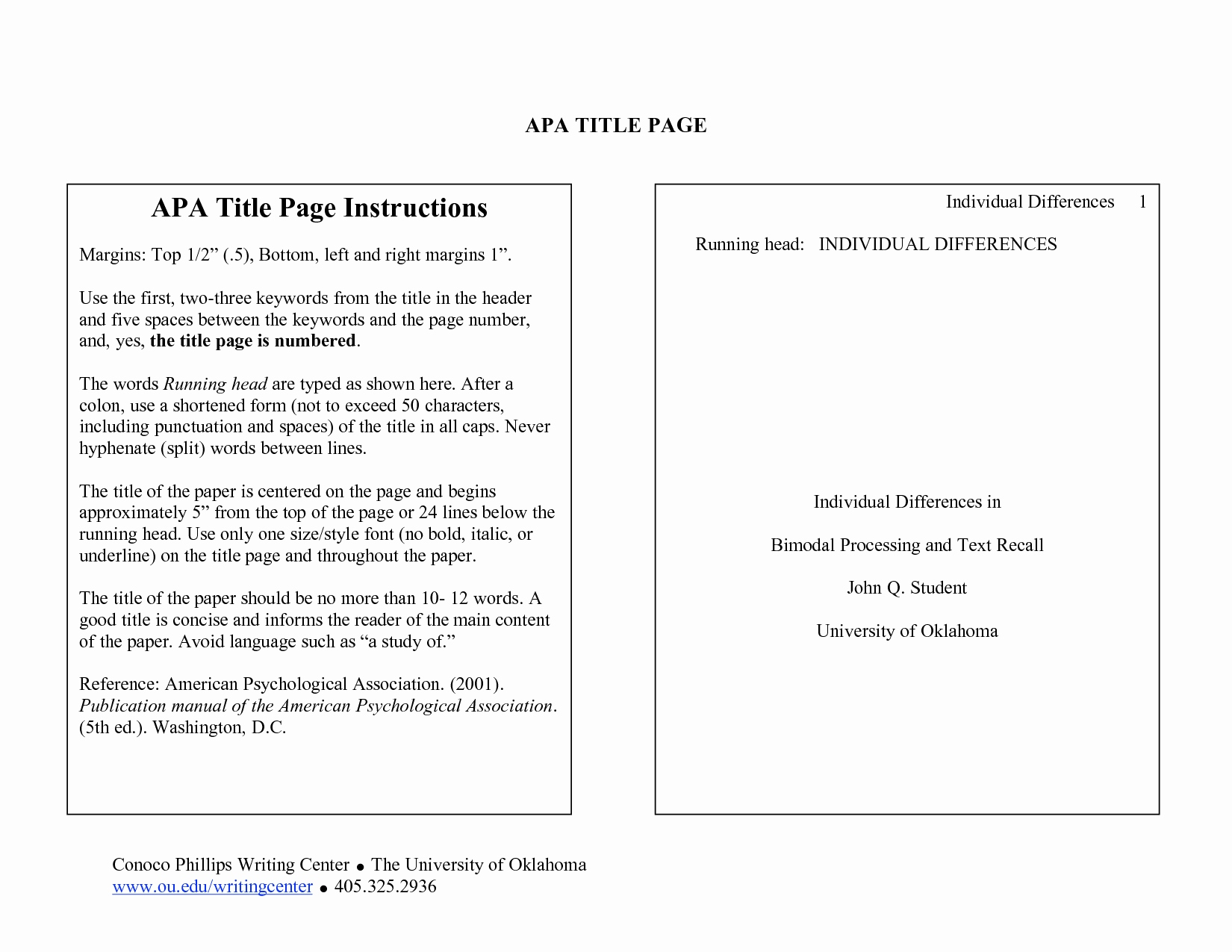 023 Research Paper Apa Cover Page Examples Pages Unique Section Headings The American Psychological Wondrous Full