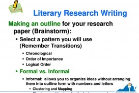 023 Research Paper Chronological Order Of Awesome A