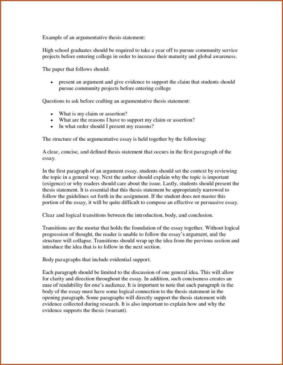 research paper examples of thesis statements for papers