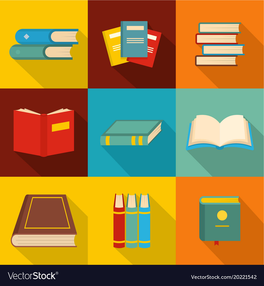 023 Research Paper Icons Set Flat Style Vector Beautiful Free Online Publication Freedom Of Speech Full