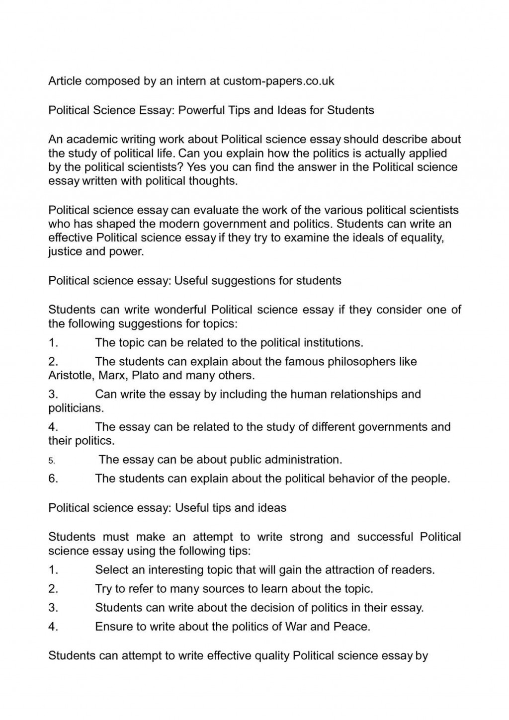023 Research Paper P1 Political Science Essay Archaicawful Topics 2014 101 Large