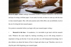 023 Research Paper Page 1 Awesome Tips College For Students Writing A