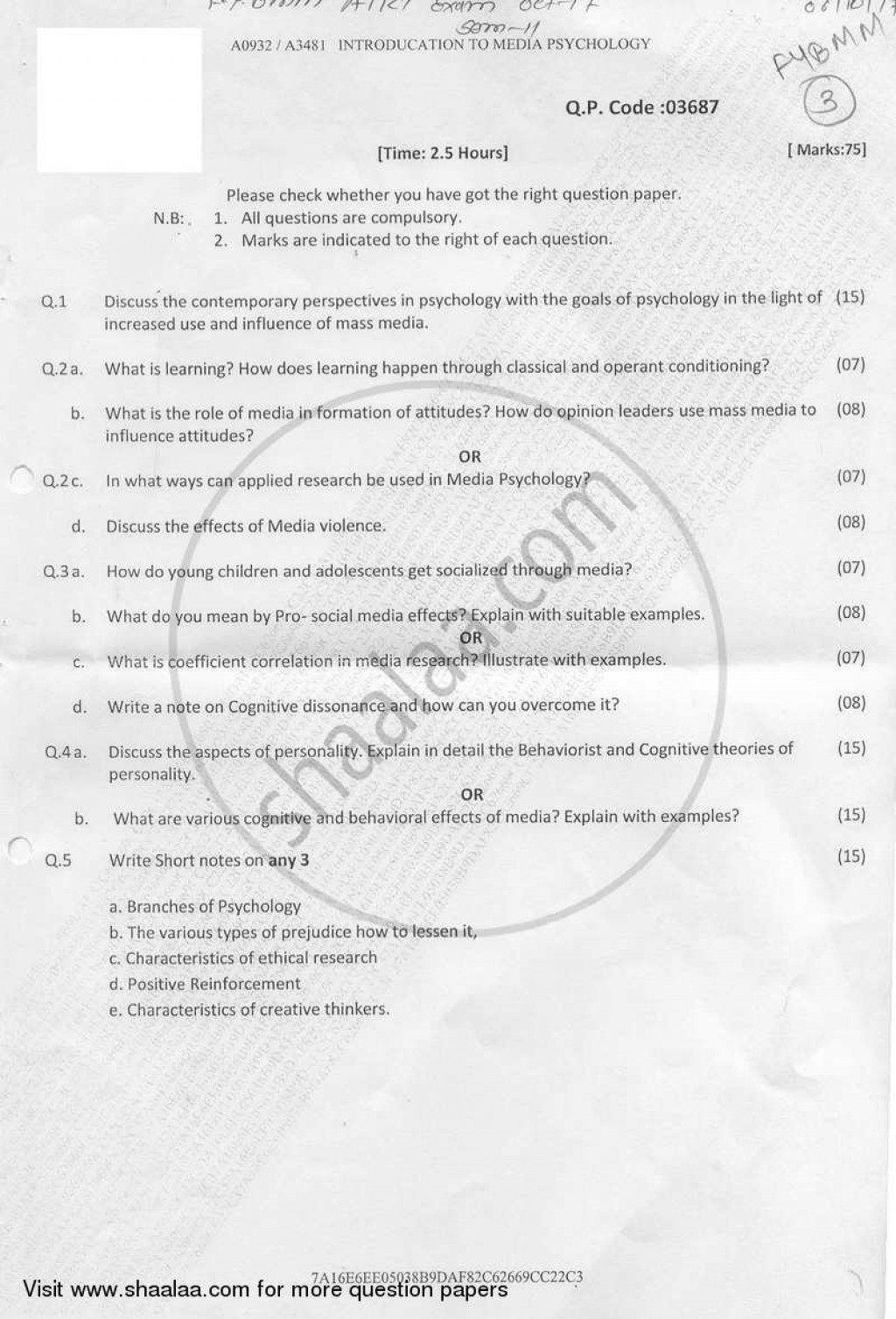 023 Research Paper University Of Mumbai Bachelor Introduction Psychology Bmm Semester 2018 29b73b27c702e4cf4b760d9b34fc0067a Unforgettable Papers 2017 Large